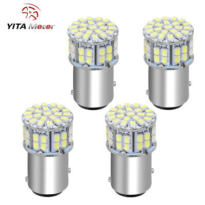4 X 6000K White 1157 BAY15D 50 SMD LED Tail Brake Parking Stop Light Bulbs 1152