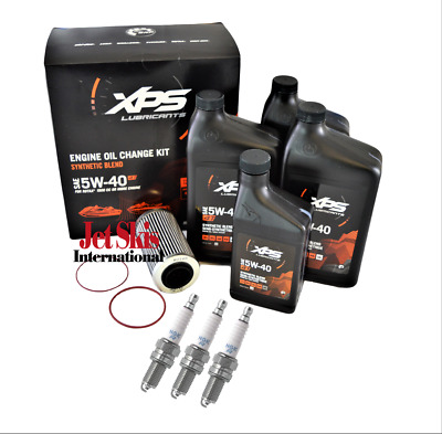 Sea Doo 4 TEC XPS Rotax Engine Oil Change Kit With Spark Plugs & Filter Seadoo