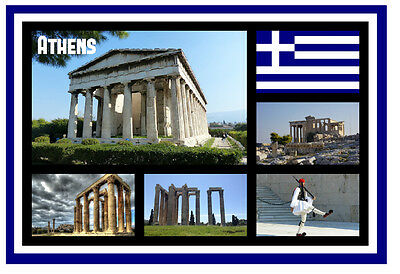 Athens, Greece - Souvenir Novelty Fridge Magnet - Sights / Towns - Gift / New