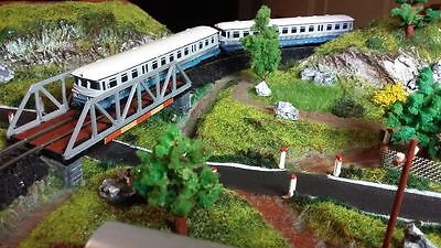 Fully Scenic Model Railway Train Layout N (1Х160) 860x510mm Piko VT4.1 Handmade