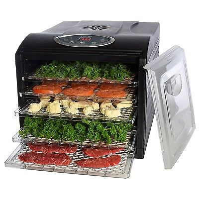 Electric Food Dehydrator with 6 Drying Racks Digital Temperature Controls and...