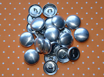 DIY 50 x self cover metal shank back buttons size 30 (19mm)