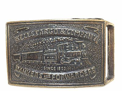 Wells Fargo & Company Bankers and Forwarders Train Belt Buckle   A9