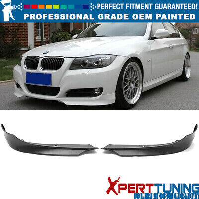 Fit 09-11 3 Series E90 LCI OE Style Painted Front Splitter Lip OEM Painted Color