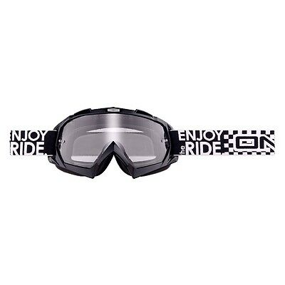 O'Neal B-Flex Launch Goggles Black - Motocross MX Downhill MTB Enduro Clear Lens