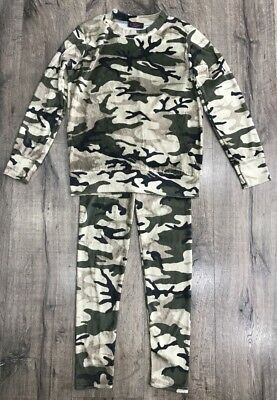 Girls Babies Army Camo Jogger Lounge Wear Crushed Velour Velvet 2pcs Tracksuits