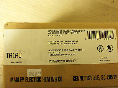 New Marley Electric 1 Pole Base Board Heater Thermostat 22 Amps 277V TA1AW
