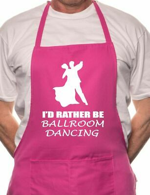 I'd Rather Be Ballroom Dancing BBQ Cooking Funny Novelty Apron