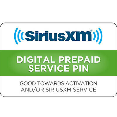 Sirius XM Gift Card $15, $30 or $50 - Email delivery