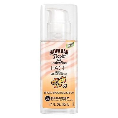 Hawaiian Tropic Silk Hydration Face Broad Spectrum Sunscreen, SPF 30, 1.7 oz