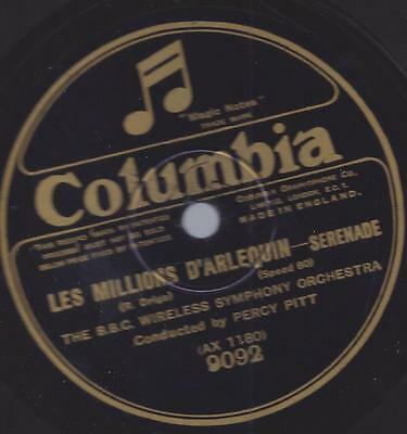 Percy Pitt conducted BBC Wireless Orchestra : Minuet  Rachmaninoff + Les Million