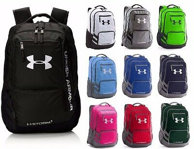 Under Armour Hustle II Backpack Team Bag School Bag NEW Authentic