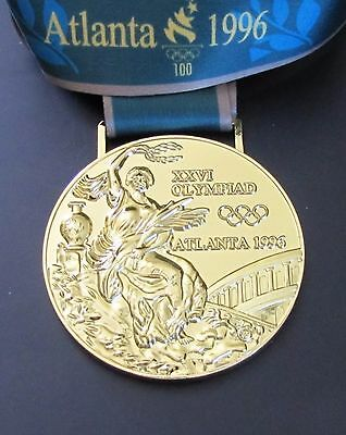 Gold Medal - 1996 Atlanta Olympics - With Silk Ribbon & Storage Pouch