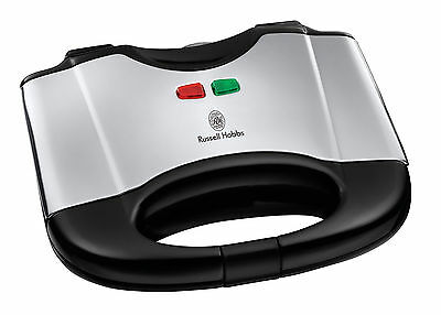 Hobbs Sandwich Maker Toaster Slice Grill Non Stick Toast Gourmet 2Portions Black
