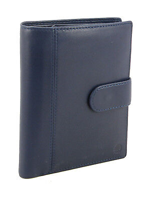 New Smart Genuine Sheep Leather Family Size Passport Travel Wallet/Holder Blue