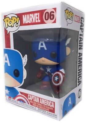 Funko Pop Marvel: Captain America Vinyl Bobble-Head Item #2224