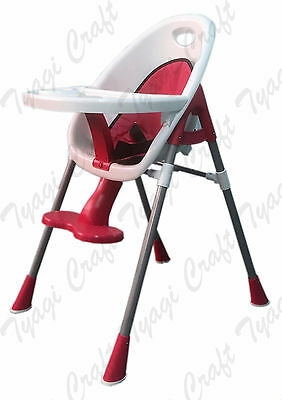 Pink Girls Quality Safety Comfy Baby High Chair Feeding tray Cup Holder Footrest