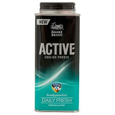 NEW Snake Brand Active Cooling Body Powder DAILY FRESH 150g