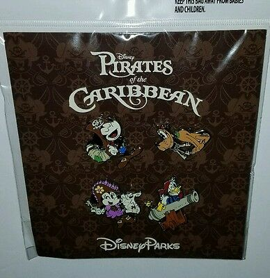 Disney Pins Authentic Pirates of the Caribbean Booster Set (NEW) Free Ship