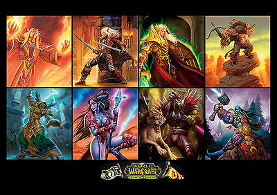 Sticker Autocollant/poster/laminated/magnet/cadre A4.world Of Warcraft Mix Perso
