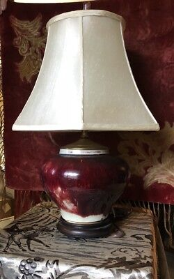 """CLEARANCE Fine CHINESE early 19th. century Sang deBoeuf ox blood Vase Lamp 28"""""""