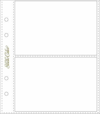 Classic Calico - 2 Pocket Page Protectors - 6pk - 6x8 inch