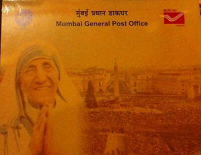 Saint Mother Teresa Commemorative Postal Stamp In Cover And Packing.