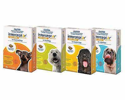 Interceptor for Dogs All Sizes Heart Worm Worming Tablets for Dogs Free Shipping