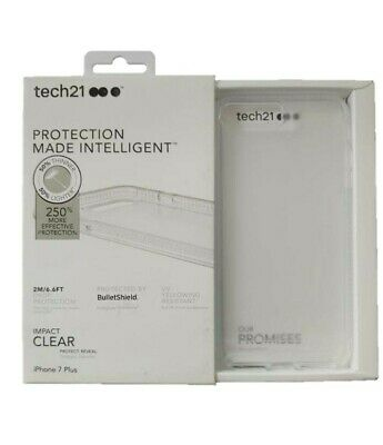 Tech21 Impact Clear Case Protection Cover for iPhone 8 Plus 7 Plus NEW OEM