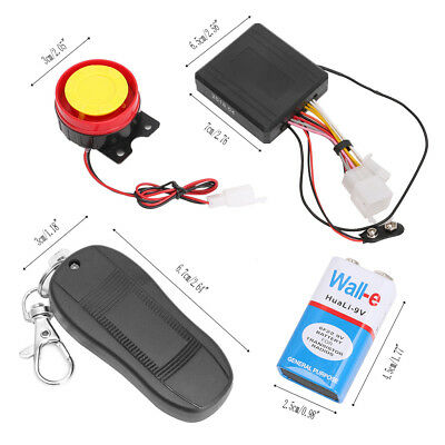 12V Motorcycle Bike Anti-theft Alarm Security System Remote Control Engine Start