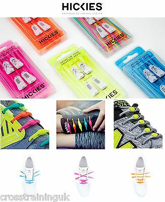 14 Hickies Elastic Trainer Lacing Replacement Sytem No More Shoe Laces fast slp