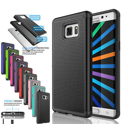 Samsung Galaxy Note 5 Case Hard&Soft Rubber Hybrid Armor Impact Defender Cover