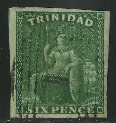 Trinidad   1859   Scott # 16  USED with Certificate