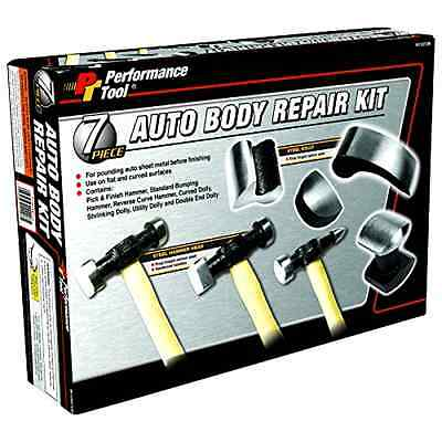 7-Piece Auto Body Repair Kit Basic Body Work Includes 3 Hammers & 4 Dollies, New