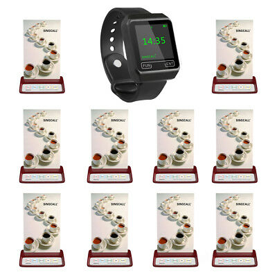 SINGCALL Wireless Calling Resta System 1 Wrist Receive and10 Buttons