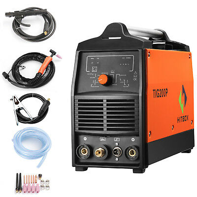 TIG welding machine digital TIG Stick mma pulse inverter welder 220V TIG200p