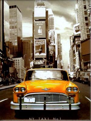 Taxi New York Yellow Cab Fridge Magnet Fridge Refrigerator Magnet 6 x 8 cm