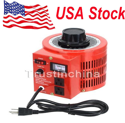 20Amp 110V Variac - Variable AC Output Auto Transformer Voltage Regulator 0-130V