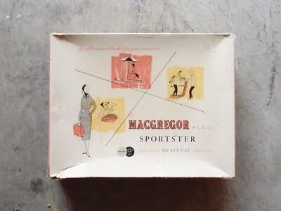 Vintage NEW 50s 60s Macgregor Plaid Sportster All Purpose Blanket in Box Bag