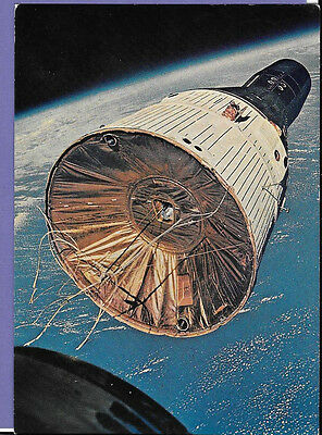 Russian Space Travel 1967 Original Vintage Old Postcard Th