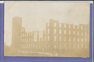 Mill Fire Disaster Lancashire Original Vintage Old Real Photo Postcard Th
