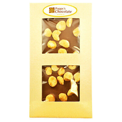 Honey Roasted Macadamias & Milk Chocolate Bar. Gluten Free.