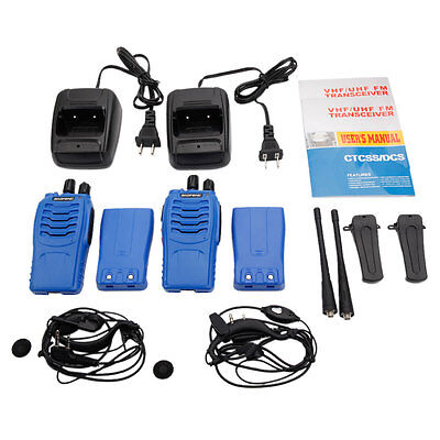 2 * Baofeng Blue BF-888S UHF CTCSS/CDCSS 5W 16CH Hand-Funkgerät Walkie-Talkie