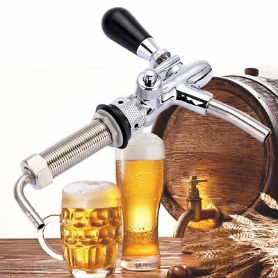 Draft Beer Faucet G5/8 Shank Chrome Plating For Homebrew Making Taps Adjustable