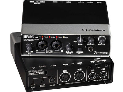 STEINBERG UR22 mkII Interfaccia audio 2x2 usb 2.0 a 24-bit
