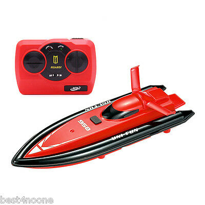 HUANQI 958A Lovely 2.4Ghz 2CH 1:10 Scale Mini RC Boat Toy with Transmitter RED