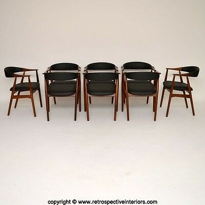 SET OF 8 DANISH AFROMOSIA ARMCHAIRS BY FARSTRUP VINTAGE 1960's
