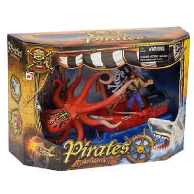 Pirates Expeditions Giant Octopus Children's Toy Set Brand New & Sealed