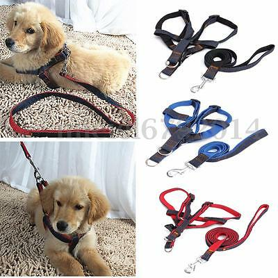 Adjustable Pet Puppy Dog Harness and Lead Leash Soft Comfortable Vest With Clip