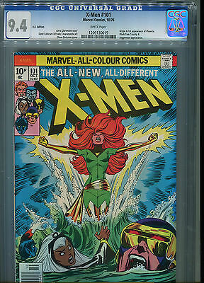 X-men #101 CGC 9.4  U.K Pence cover price Variant (1st print) EXTREMELY RARE